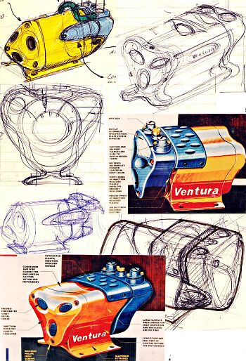 Concept sketches for the Flowduct Ventura