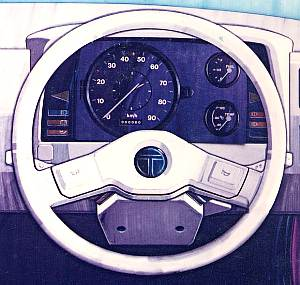 Styling proposal - steering and instrument panel
